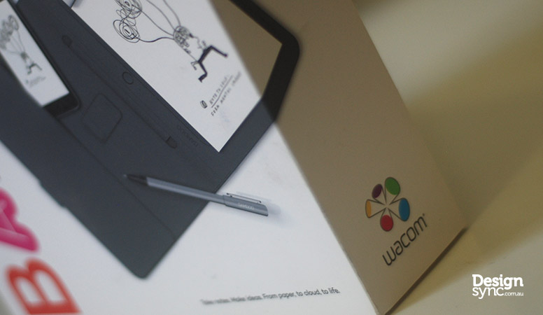 Design Sync - Wacom Bamboo Spark side package box