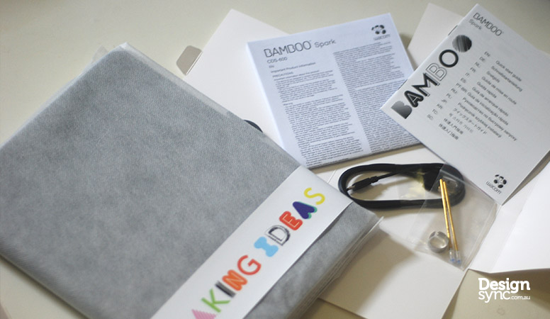 Design Sync - Wacom Bamboo Spark inside package box